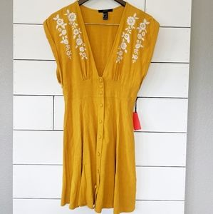 Forever 21 Dukes of Dallas Yellow Mini Dress NWT